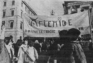 Collettivo artemide donne lesbiche in rivolta casa donne herstory  storia gruppi Roma