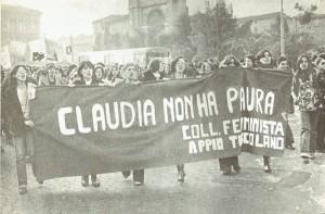 collettivo femminista appio tuscolano manifestazione herstory  luoghi donne storia gruppi Roma