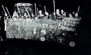 manifestazione riprendiamoci la notte collettivo trastevere femminismo herstory  luoghi donne storia gruppi Roma