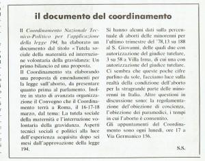 Coordinamento 194 documento effe herstory  femminismo luoghi donne storia gruppi Roma