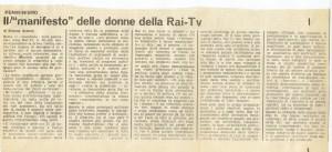 Collettivo femminista RAI giornaliste manifesto herstory  luoghi donne storia gruppi Roma mappa