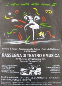rassegna teatro Maddalena herstory  femminismo luoghi donne storia gruppi Roma