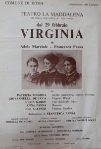 Collettivo donne Poligrafico spettacolo virginia locandina herstory  femminismo luoghi storia gruppi Roma