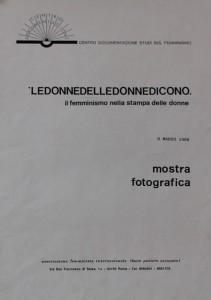 mostra fotografica Centro documentazione studi femminismo herstory  luoghi donne storia gruppi Roma