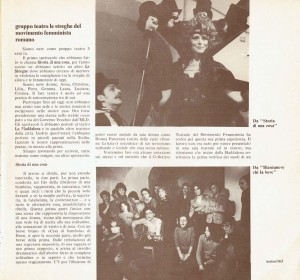 Gruppo Teatro Streghe herstory  femminismo luoghi donne storia gruppi Roma almanacco