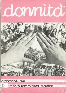 copertina donnità Centro documentazione studi femminismo separatismo herstory  luoghi donne storia gruppi Roma