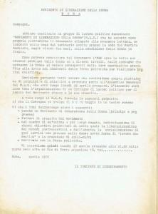 assemblea costituzione MLD Movimento di Liberazione della Donna archivia herstory  femminismo Roma