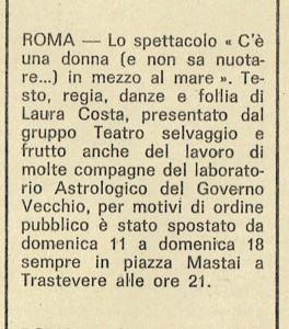 gruppo astrologico  casa donna governo vecchio herstory femminismo lesbiche  storia gruppi Roma