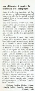 Collettivo femminista Anzio Nettuno lettera effe herstory  luoghi donne storia gruppi Roma