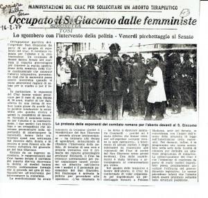 occupazione giacomo crac herstory  femminismo donne gruppi Roma