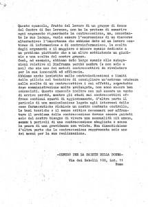 opuscolo contraccezione San Lorenzo Collettivo herstory  femminismo luoghi donne storia gruppi Roma