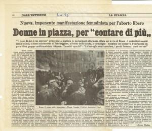 manifestazione stampa Comitato romano liberalizzazione aborto contraccezione herstory  femminismo donne gruppi Roma