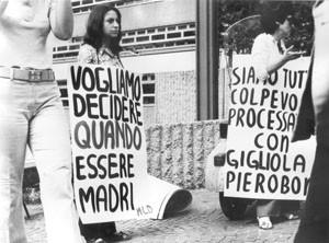 manifestazione  movimento femminismo romano  Pompeo Magno herstory  luoghi donne gruppi lesbiche Roma archivia