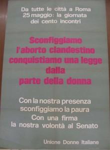 manifesto Unione donne italiane herstory  femminismo storia gruppi Roma archivia
