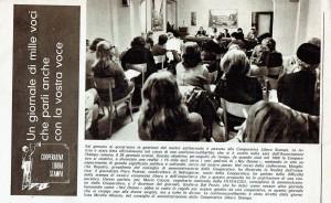 incontro Cooperativa Libera Stampa herstory  femminismo luoghi donne storia gruppi Roma