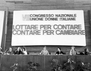 ottavo congresso Unione donne italiane herstory  femminismo storia gruppi Roma archivia