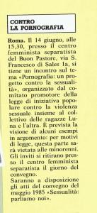 articolo noidonne pornografia  herstory  femminismo luoghi donne storia gruppi Roma