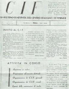 CIF bollettino herstory  femminismo luoghi donne storia gruppi Roma