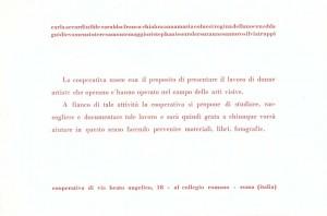 Beato angelico Cooperativa arte  presentazione herstory  femminismo luoghi donne storia gruppi Roma