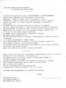 raccolta adesioni pompeo magno femminismo herstory  luoghi donne gruppi lesbiche Roma archivia