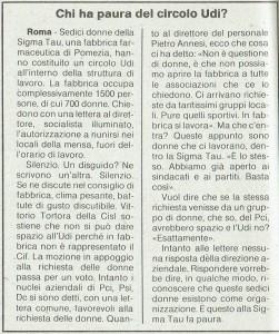 Circolo Udi Pomezia articolo noidonne herstory  femminismo luoghi donne storia gruppi Roma