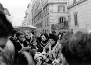 8 marzo movimento romano pompeo magno femminismo herstory  luoghi donne gruppi lesbiche Roma archivia