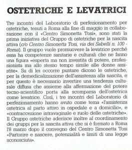 noidonne inserto ostetriche e levatrici San Lorenzo Collettivo herstory  femminismo luoghi donne storia gruppi Roma