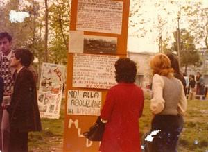 legge divorzio  Movimento Liberazione della Donna archivia herstory  femminismo Roma