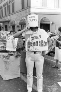 manifestazione movimento romano pompeo magno femminismo herstory  luoghi donne gruppi lesbiche Roma archivia