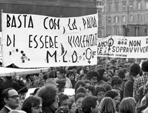manifestazione herstory  femminismo luoghi donne storia gruppi Roma