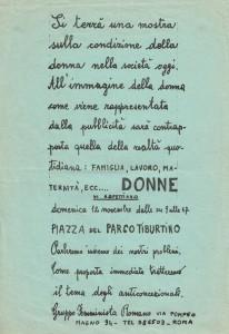 mostra gruppo femminista romano  Pompeo Magno herstory  luoghi donne gruppi lesbiche Roma archivia