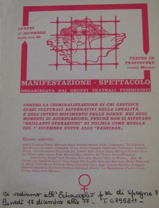 lesbiche bar separatismo lesbica herstory  femminismo luoghi donne storia gruppi Roma  iniziativa volantino