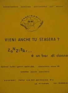 Zanzibar lesbiche bar lesbica herstory  femminismo luoghi donne storia gruppi Roma