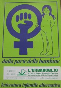 Erbavoglio locandina herstory  femministe  luoghi donne storia collettivi manifestazioni gruppi Roma