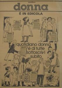 Locandina Donna Quotidiano  herstory  femminismo collettivi manifestazioni gruppi