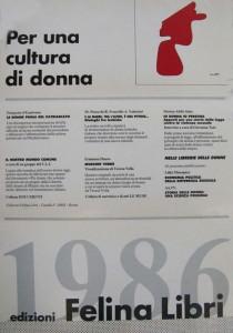 Felina libri casa editrice herstory  femminismo luoghi donne storia gruppi Roma lesbica