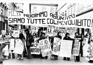 manifestazione aborto Movimento Liberazione della Donna archivia herstory  femminismo Roma