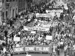 manifestazione aborto Udi Unione donne italiane herstory  femminismo storia gruppi Roma archivia