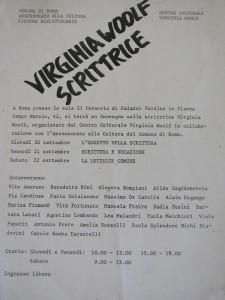 Centro Virginia Woolf Università delle donne herstory  femminismo luoghi storia gruppi Roma