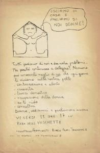 volantino collettivo femminista prati herstory  luoghi donne storia gruppi Roma