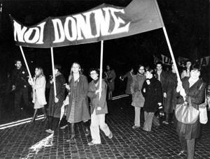manifestazione  noidonne herstory archivia femminismo luoghi  storia gruppi Roma donna