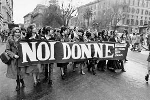 manifestazione noi donne herstory  femminismo luoghi  storia gruppi Roma