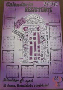 22 calendaria herstory  femminismo lesbiche  luoghi donne collettivi gruppi Roma