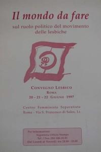 convegno lesbiche centro separatista femminista herstory  luoghi collettivi gruppi Roma