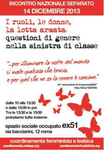 volantino incontro herstory  femminismo lesbiche  luoghi donne collettivi gruppi Roma