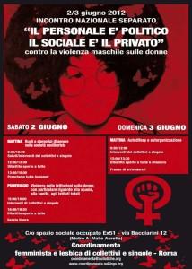 22 volantino incontro herstory  femminismo lesbiche  luoghi donne collettivi gruppi Roma