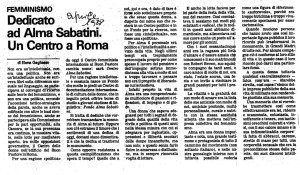 manifesto alma sabatini Centro Femminista herstory  luoghi donne storia gruppi Roma
