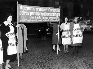 manifestazioni delle donne pensione occupazione femminile Archivia Herstory femminismo a roma e Lazio