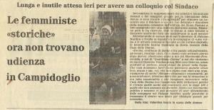 Centro femminista separatista CFS articolo convegno herstory  femministe lesbiche  luoghi collettivi gruppi Roma