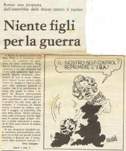 armi quotidiano donna articolo herstory  femminismo luoghi donne storia gruppi Roma